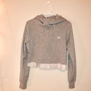 Cropped Adidas Originals Mock Neck Hoodie